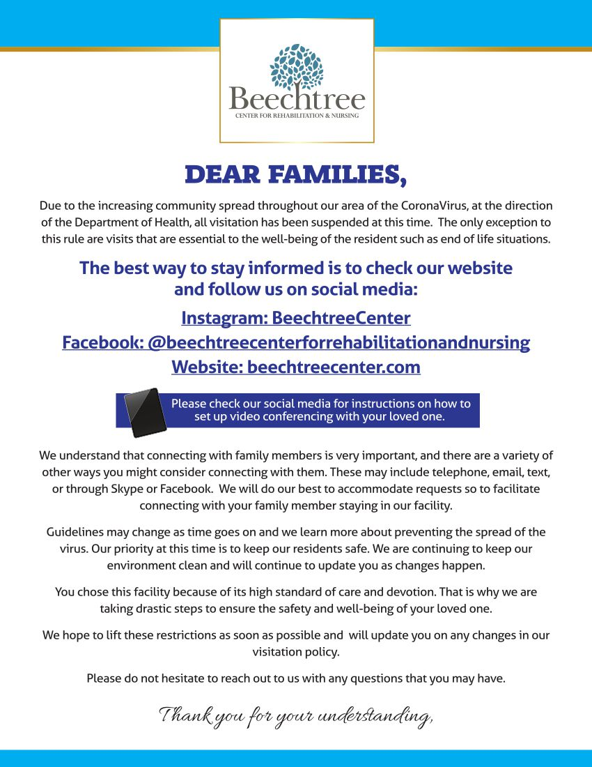 Beechtree Corona Message